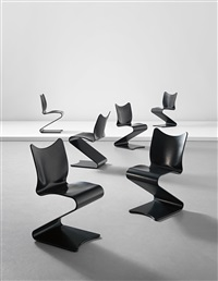 chairs, model no. 275 (set of 6) by verner panton