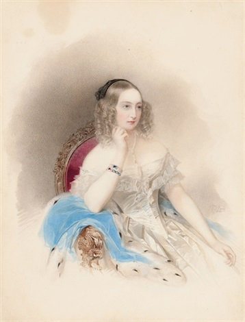 portrait of grand duchess elena pavlovna by vladimir ivanovich hau