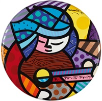 guitar player by romero britto