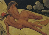 two reclining nudes by cornelis kloos