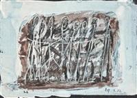 foule - union, 1957 (2 works) by rené guiette