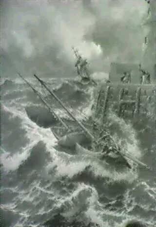 efter en stormfuld nat ved battery breakwater douglas isle of man by j r miles