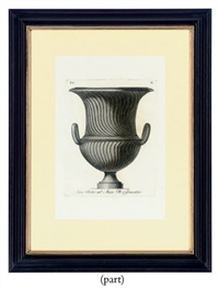 classical urns and vases (12 studies) by carlo antonini