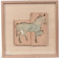 cavallini (3 works) by mario ceroli