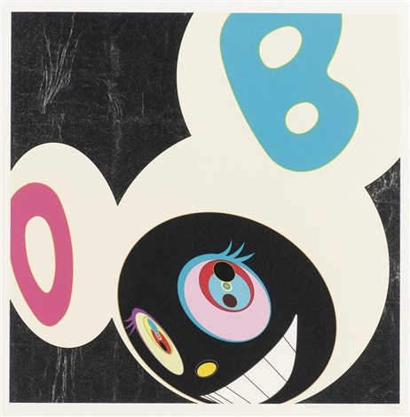 and then black and then gold and then rainbow and then white and then white and black 5 works by takashi murakami