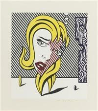 roy lichtenstein, blonde (from surrealist series) by roy lichtenstein