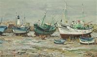 île d'yeu, les bateaux by jean rigaud