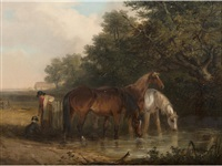 watering the horses by thomas smythe