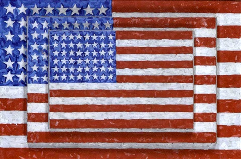 three flags jasper johns by richard pettibone