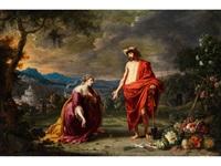 noli me tangere (jesus als gärtner vor der knienden maria magdalena) by guillaume forchondt the elder