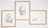 the four eyes (triptych) by karl haendel