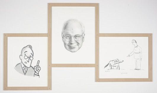 the four eyes (triptych) by karl haendel