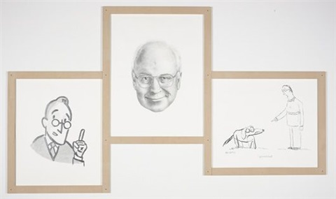 the four eyes triptych by karl haendel