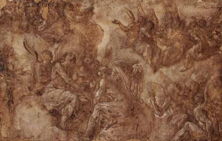 angeli in contemplazione by giovanni battista di matteo naldini