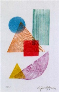 variationen in rot-gelb-blau und violett-orange-grün by siegfried assfalg