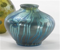 decorated millefiore vase by louis comfort tiffany