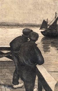 marins au port by kurt peiser