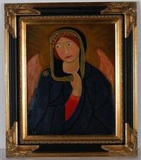 angel in a blue robe by lorenzo scott
