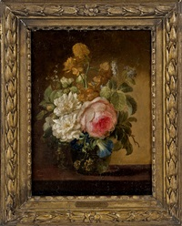 still life of a vase of flowers by gérard van spaendonck