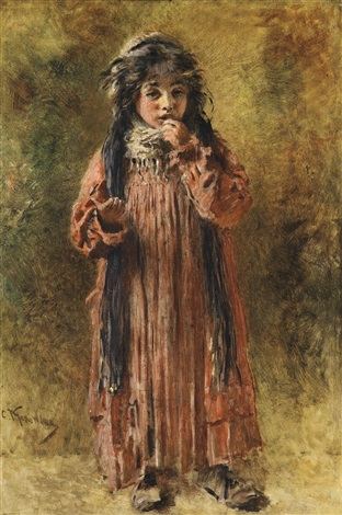 young gypsy by konstantin egorovich makovsky