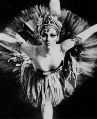 martine van hamel in feuervogel, american ballet theatre by kenn duncan
