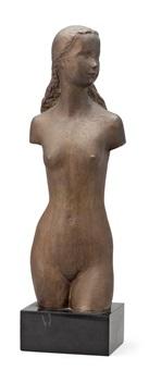 torso, ung flicka by gunnar nilsson