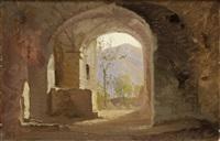 chiostro by antonio fontanesi