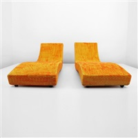 wave adjustable lounge chairs (pair) by paola lenti