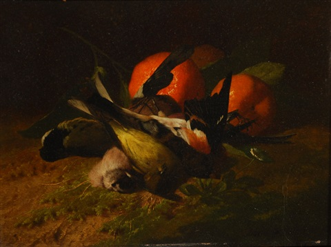 oiseaux et oranges by david emile joseph de noter