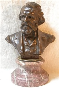 bust of the poet longfellow by h. muller
