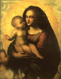 the madonna and child with the infant st. john the baptist by mariotto albertinelli