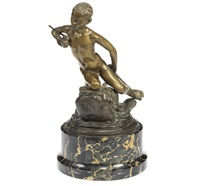 a bronze model of a little fisherboy pescatorello by vincenzo gemito