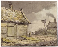 a cottage near a country road by anthony andriessen