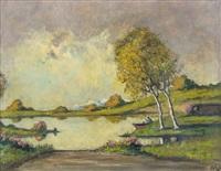 pescatore sul lago by mario gachet