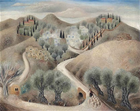 galilean landscape by reuven rubin