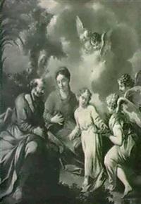 die heilige familie mit engeln. by bartholomäus altomonte