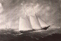 schooner 'mary e. douglas' by william gay yorke