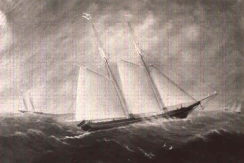 schooner mary e douglas by william gay yorke