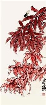蝉鸣雁来红 by qi baishi