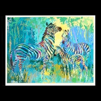 zebra family by leroy neiman