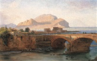 a view of palermo by johann friedrich stock