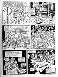 phil perfect, planche 3 (for métal hurlant) by serge clerc