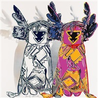 kachina dolls. aus: cowboys and indians by andy warhol