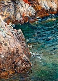 sziklás tengerpart by robert nadler