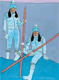 sharon and shirley firth, northwest territories by george littlechild