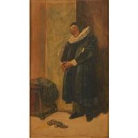 man wearing a ruff by james dromgole linton