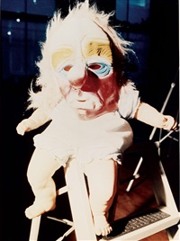 baby doll with mask by cindy sherman