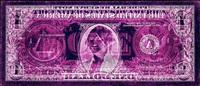 negative currency: one dollar bill used as negative by david lachapelle