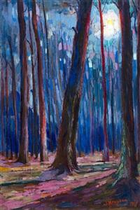 luministisch bosgezicht by jan kruysen