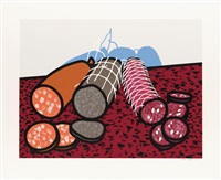big sausage * sausage * three sausages (3 works) by patrick caulfield